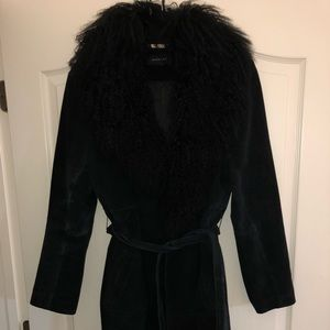 Avenue Suede and Lambs fur coat